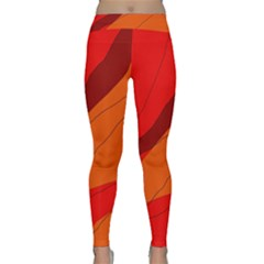 Red and orange decorative abstraction Yoga Leggings