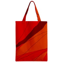 Red and orange decorative abstraction Zipper Classic Tote Bag