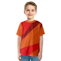 Red and orange decorative abstraction Kid s Sport Mesh Tee