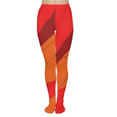 Red and orange decorative abstraction Women s Tights