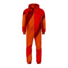 Red and orange decorative abstraction Hooded Jumpsuit (Kids)