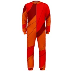 Red and orange decorative abstraction OnePiece Jumpsuit (Men)