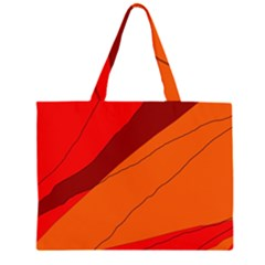 Red and orange decorative abstraction Large Tote Bag