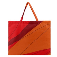 Red and orange decorative abstraction Zipper Large Tote Bag