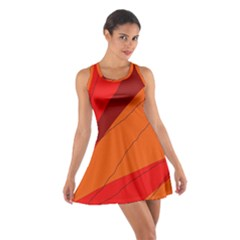 Red And Orange Decorative Abstraction Racerback Dresses