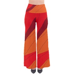 Red and orange decorative abstraction Pants