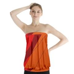 Red and orange decorative abstraction Strapless Top