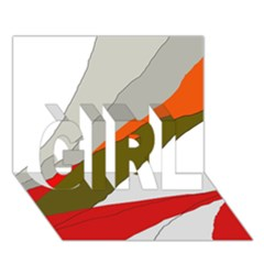 Decorative abstraction GIRL 3D Greeting Card (7x5)