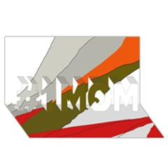 Decorative abstraction #1 MOM 3D Greeting Cards (8x4)