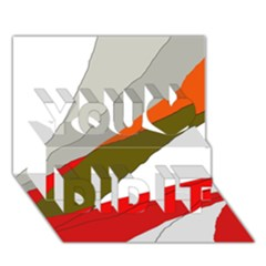 Decorative abstraction You Did It 3D Greeting Card (7x5)