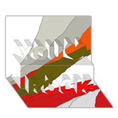 Decorative abstraction You Rock 3D Greeting Card (7x5)