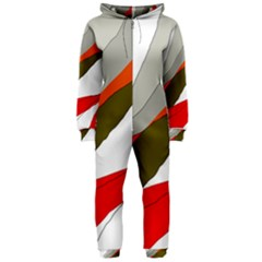 Decorative abstraction Hooded Jumpsuit (Ladies)
