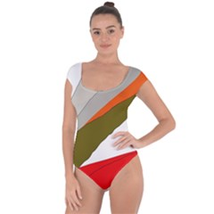 Decorative abstraction Short Sleeve Leotard