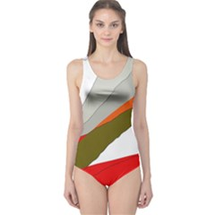 Decorative abstraction One Piece Swimsuit