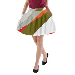 Decorative abstraction A-Line Pocket Skirt