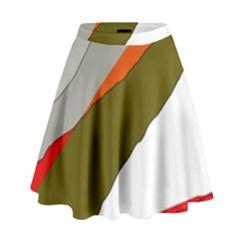 Decorative abstraction High Waist Skirt