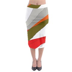 Decorative abstraction Midi Pencil Skirt