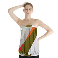 Decorative Abstraction Strapless Top