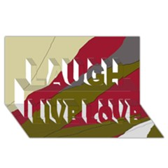 Decoratve abstraction Laugh Live Love 3D Greeting Card (8x4)