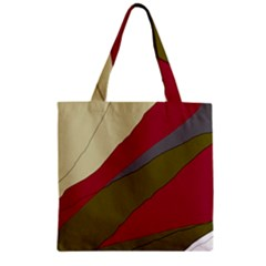 Decoratve abstraction Zipper Grocery Tote Bag