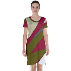 Decoratve abstraction Short Sleeve Nightdress