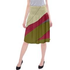 Decoratve abstraction Midi Beach Skirt