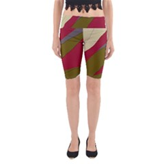 Decoratve abstraction Yoga Cropped Leggings