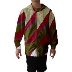 Decoratve Abstraction Hooded Wind Breaker (kids)