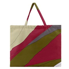 Decoratve abstraction Zipper Large Tote Bag