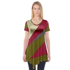 Decoratve abstraction Short Sleeve Tunic