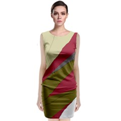 Decoratve Abstraction Classic Sleeveless Midi Dress