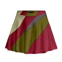 Decoratve abstraction Mini Flare Skirt