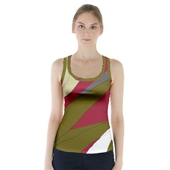 Decoratve abstraction Racer Back Sports Top
