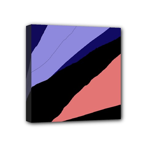 Purple and pink abstraction Mini Canvas 4  x 4
