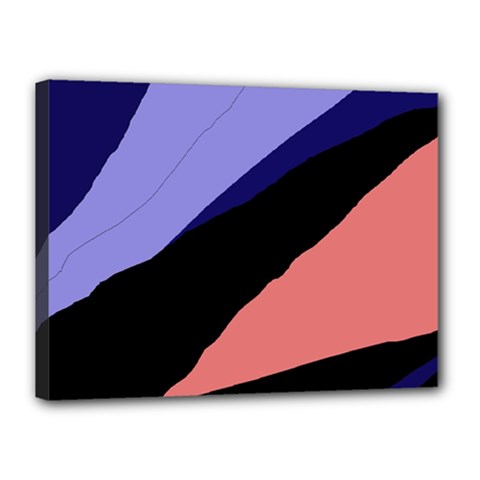 Purple and pink abstraction Canvas 16  x 12