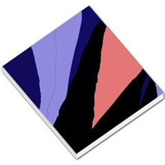 Purple and pink abstraction Small Memo Pads