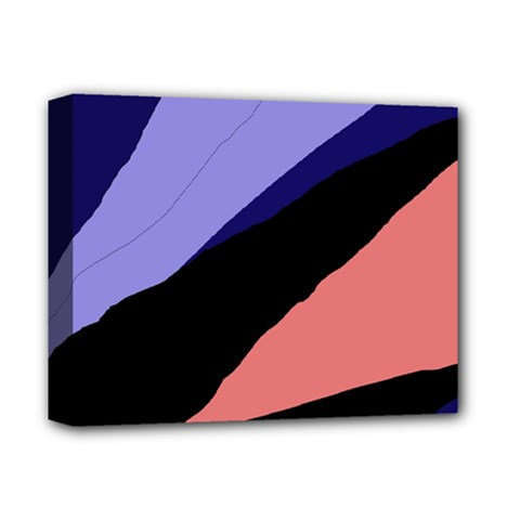 Purple and pink abstraction Deluxe Canvas 14  x 11
