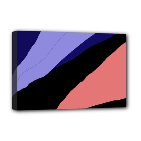 Purple and pink abstraction Deluxe Canvas 18  x 12