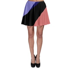 Purple and pink abstraction Skater Skirt