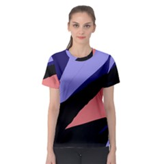 Purple and pink abstraction Women s Sport Mesh Tee