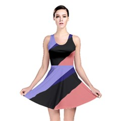 Purple and pink abstraction Reversible Skater Dress