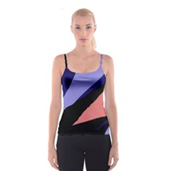 Purple and pink abstraction Spaghetti Strap Top