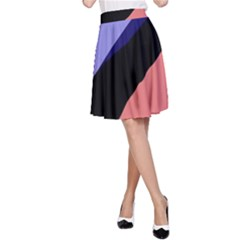 Purple and pink abstraction A-Line Skirt