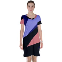 Purple and pink abstraction Short Sleeve Nightdress