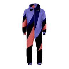 Purple and pink abstraction Hooded Jumpsuit (Kids)