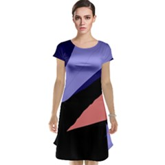Purple and pink abstraction Cap Sleeve Nightdress