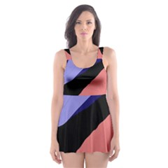 Purple and pink abstraction Skater Dress Swimsuit