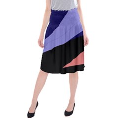Purple and pink abstraction Midi Beach Skirt