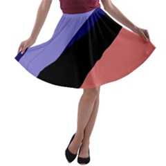 Purple and pink abstraction A-line Skater Skirt