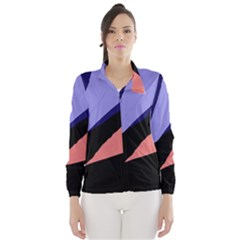 Purple and pink abstraction Wind Breaker (Women)